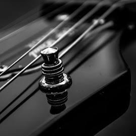 Tune up. by Nicole Williams - Novices Only Objects & Still Life ( tuner, b&w, electric, guitar )