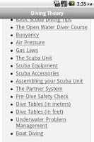 Screenshot of Scuba Exam Lite