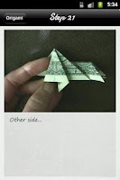 Screenshot of Dollar Origami