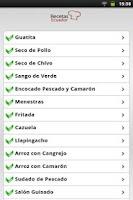 Screenshot of Recetas Ecuador
