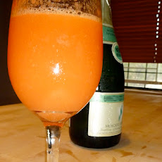 Frosted Ginger Peach Bellini