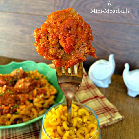 Macaroni and Mini Meatballs