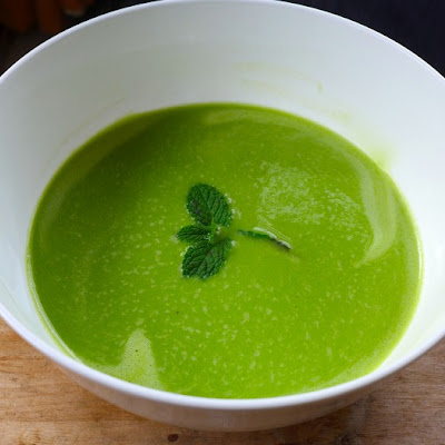 Six Minute Green Pea Soup