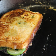Smoky Jalapeño Grilled Cheese with Tomatillos