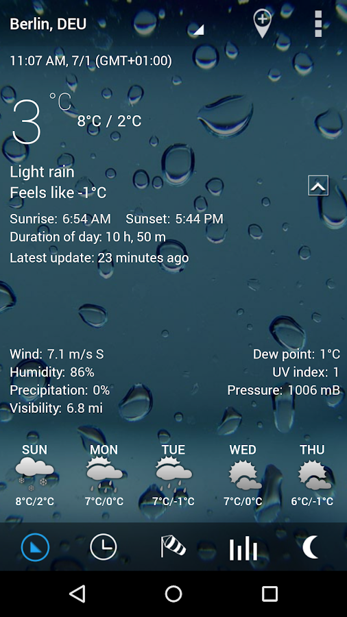 3D Sense Clock & Weather Screenshot 1