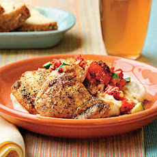 Chicken Thighs With Chunky Tomato Sauce