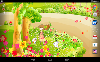 Screenshot of Cartoon Spring Live Wallpaper