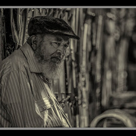 A man  by Yogesh Waikul - People Portraits of Men ( mumbai, monochrome, street, maharastra, india, man )