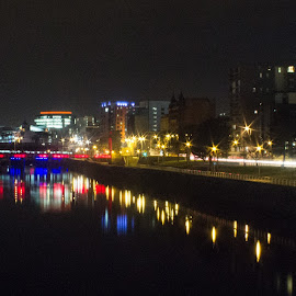 Clyde By Night by Dave Dodge - Novices Only Landscapes ( glasgow,  )