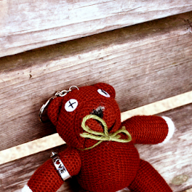 Teddy Finds Love by Phoebe Beltran - Artistic Objects Toys ( mr. bean, miyajima, teddy in japan, love ring, teddy )