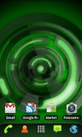 Screenshot of RLW Theme Black Green Tech