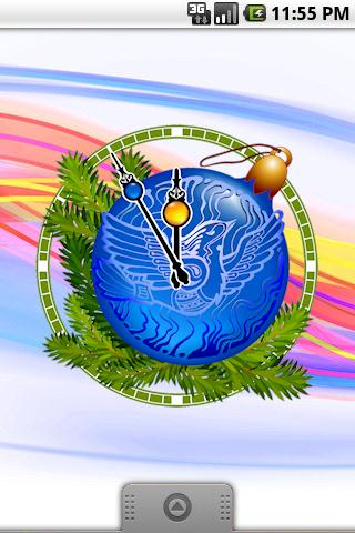 Christmas Eve Clock widget