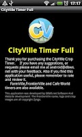 Screenshot of CItyVille Crop Timer Free