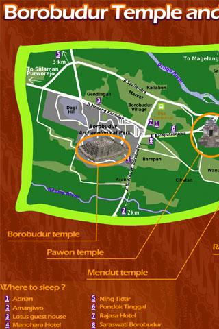 Borobudur Surroundings Map