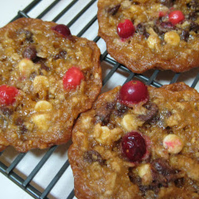 Triple- Chocolate Cranberry Oatmeal Cookies
