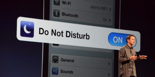 Do not disturb is taking things for face value