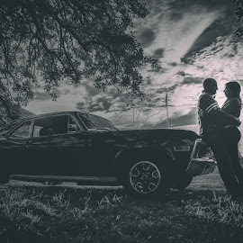 Love road by Zeke Garcia - Wedding Other ( car, love, wedding, chevy )