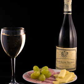 Wine by Bela Paszti - Food & Drink Alcohol & Drinks ( wine, grape, alcohol, drink, glass, white wine, bottle )