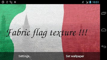 Screenshot of 3D Italy Flag Live Wallpaper +