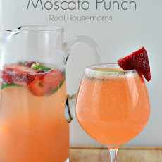 Strawberry & Lime Moscato Punch