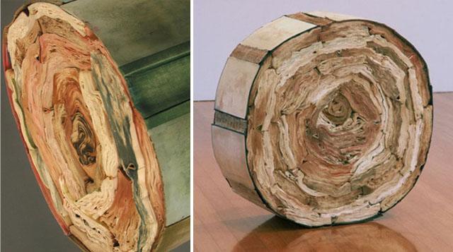 Книги превращаются... обратно в деревья Мы начнем с книжных скульптур от Джеклайн Раш Ли, одного (одной)...