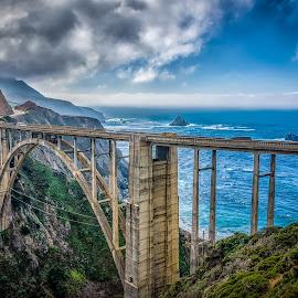 Bixby Bridge 2 by Max Juan - Buildings & Architecture Bridges & Suspended Structures ( monterey, california, bixby, bridge, landscape,  )