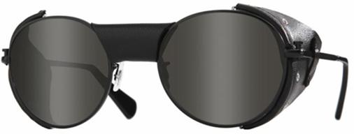 glasses with metal blinkers