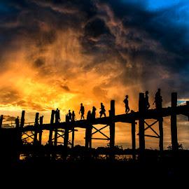 Magical Sunset Cloud !!!!  by Myo Oo - Landscapes Sunsets & Sunrises