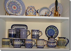 Polish pottery bottom shelf