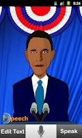 Screenshot of iSpeech Obama