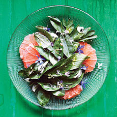 Fava Green, Grapefruit, and Flower Salad