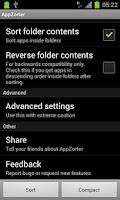 Screenshot of AppZorter for TouchWiz