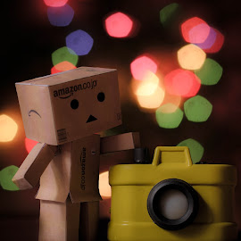 what does this button do? by Sai Kishore - Digital Art Things ( danbo, digital art, toys, things, photography )