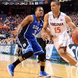 Driving to the hoop by Tyrell Heaton - Sports & Fitness Basketball ( ncaa, duke, virginia, acc )