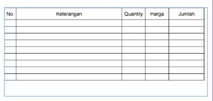 tabel nota