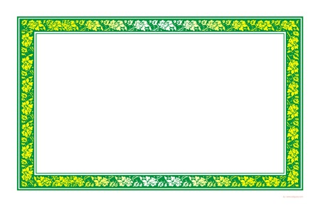 LeafGreen Certifcate / Sertifikat Landscape for MSWord
