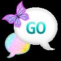 GO SMS - Pastel Glitter Sky icon