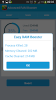 Screenshot of Advanced Ram Booster