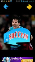 Screenshot of Lionel Messi jigsaw puzzle