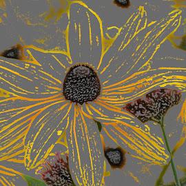 Wallpaper by Barbara Langfeld - Abstract Patterns ( abstract, patterns, greenhouse, wallpaper, flowers )