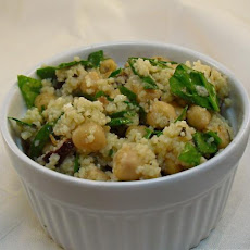 Fresh Spinach and Couscous Salad/Feta Cheese