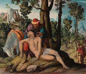 RIJKS: Meester van de Barmhartige Samaritaan: The Good Samaritan 1537