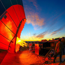 Early morning preparations by George Marcu - Transportation Other ( canon, kappadocia, hot air balloon, 2014, turkey,  )