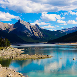 Jasper National Park by Carla Chidiac - Landscapes Travel ( mountains, alberta, canada, beautiful, rocky mountains, blue water, lake, rockies, travel, landscapes, jasper national park )