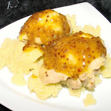 Apricot-Dijon Mustard Chicken With Couscous