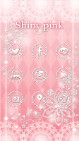 Screenshot of Cute wallpaper★Shiny pink