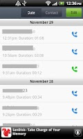 Screenshot of Call Log Master