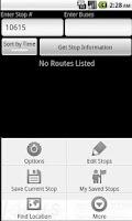 Screenshot of Winnipeg Transit Schedule Tool