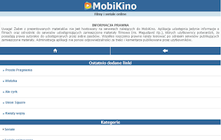 Screenshot of MobiKino
