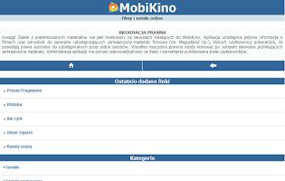 Screenshot of MobiKino